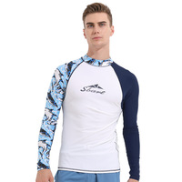 Sbart 1PC White Swimming T Shirts Rash Guard Men Swimsuits Long Sleeves Swimwear Surfing Sailing Tops Beach Bathing Suits DDO