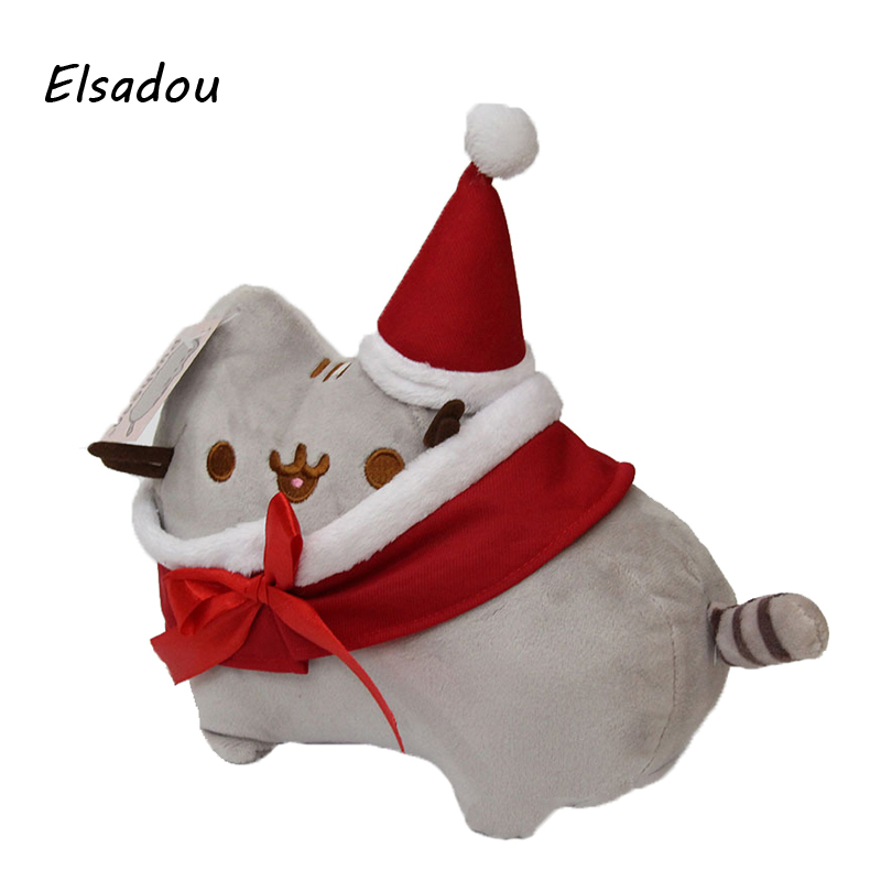 Elsadou Santa Claus Cartoon Pusheen Plush Toy Doll Best Christmas Gift outdoor christmas decoration inflatable santa claus 20ft high 6m high factory direct sale bg a1188 toy