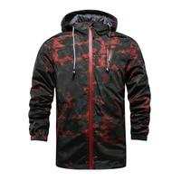Hot Spring And Fall Men S Windbreaker Casual Sports Jacket Zipper Cardigan Men Hooded Jacket Thin
