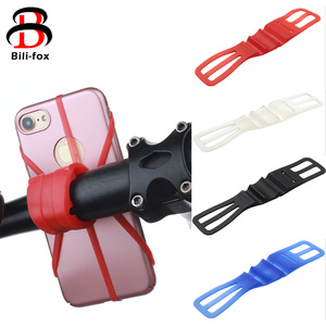 Silicone Bike Phone Holder Band for Smartphone Handlebar Mount Motorcycle Phone Holder For iPhone for Samsung GPS Easy Install(China)