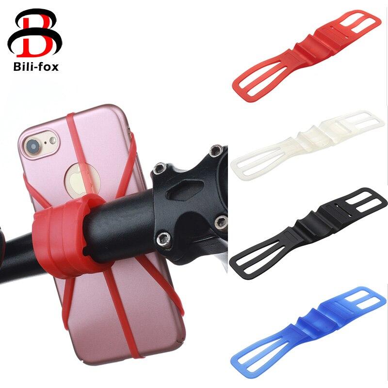 Bicycle Silicone Elastic Torch flashLight Phone Bind Strap Mount Holder JB