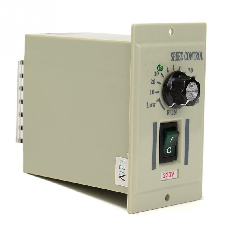 цена на AC 220V 50HZ Knob Motor Speed Variable Control Controller over current/short circuit protection For DC 0-500W Motor Accessroeis