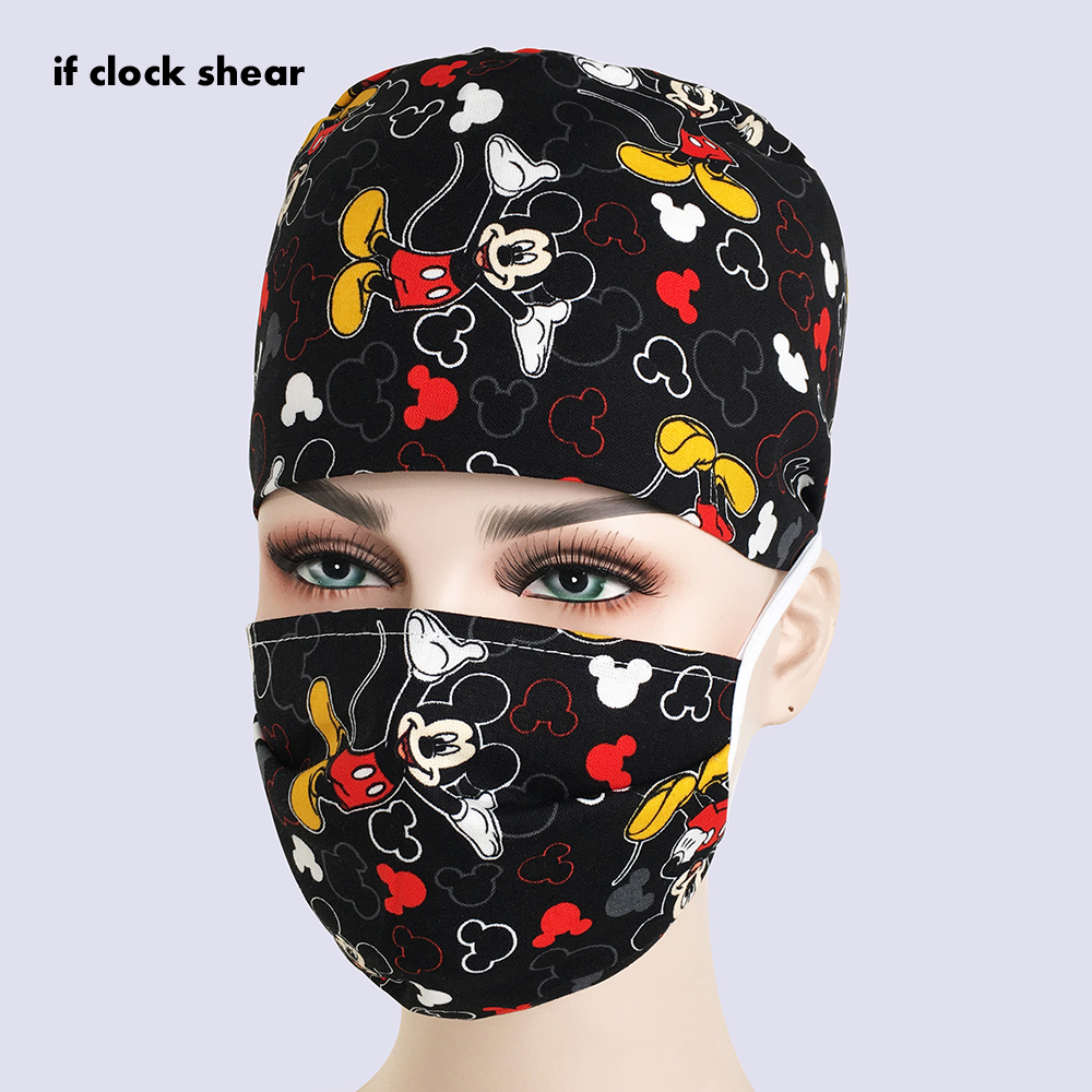 New Unisex Pharmacy New Chef Beauty Men's Surgery Surgical Hat Practice Nurse Cap Medical Hospital Doctor Laboratory Printing