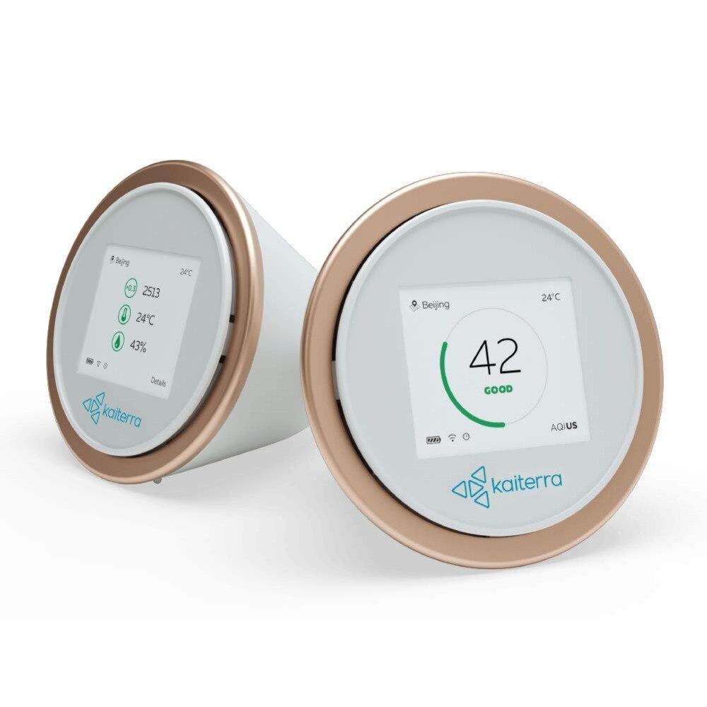 Laser de Ovo 2 + Inteligente Monitor de Qualidade Do Ar Interior Medidas de Poeira Fina PM2.5 Produtos Químicos Temperatura Umidade HomeKit Wi-fi Enabled Maçã