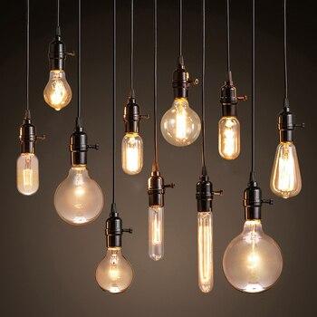 Vintage Pendant Lights American style lamp Industrial Lighting Loft Dining Decoration Restaurant Bedroom E27 Base Edison Bulbs 自宅 ワイン セラー