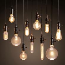 Vintage Pendant Lights American style lamp Industrial Lighting Loft Dining Decoration Restaurant Bedroom E27 Base Edison Bulbs