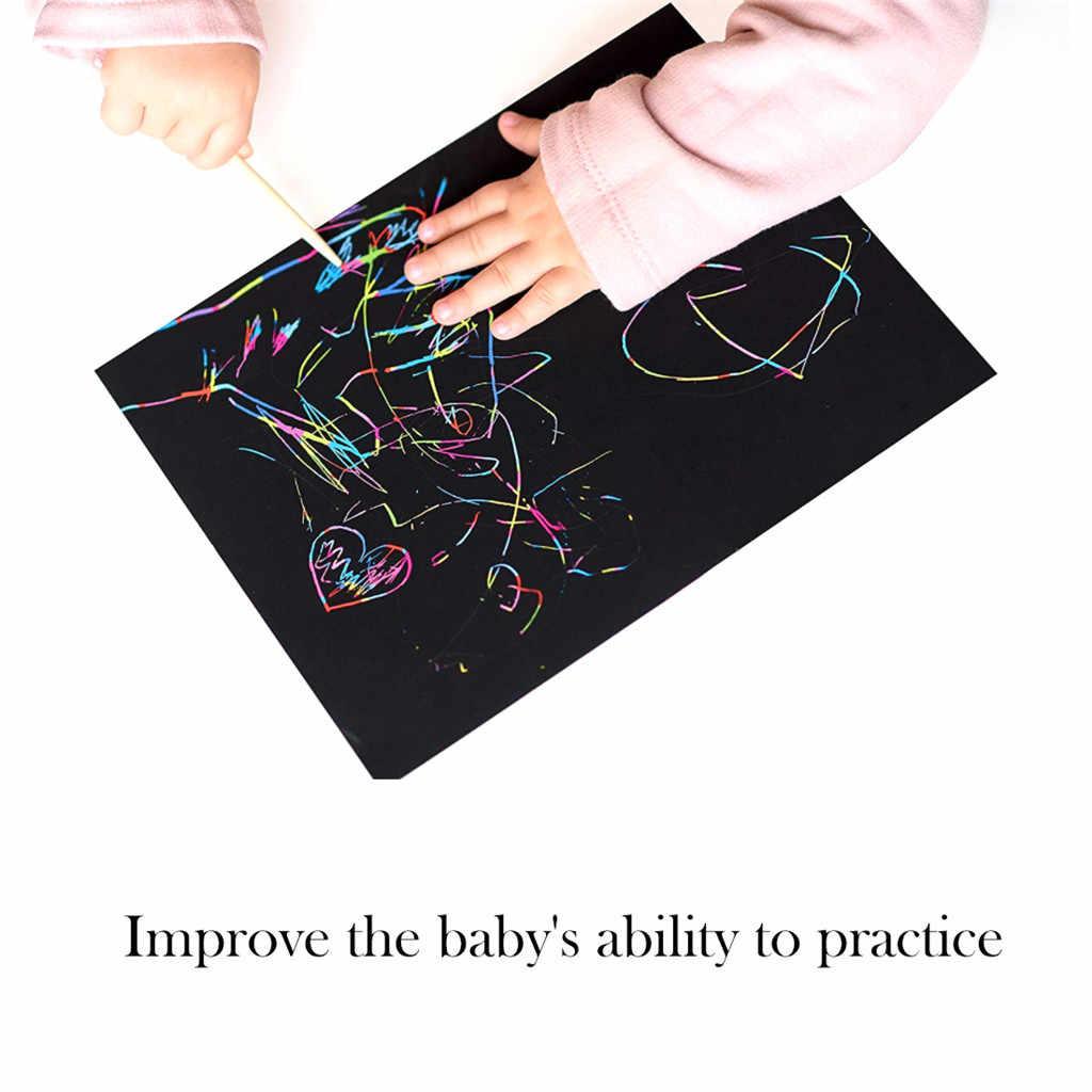 2019 популярные новые продукты красочные 4 K скрепляющая бумага 10 шт детская живопись DIY бамбуковая ручка Аксессуары для рисования дом