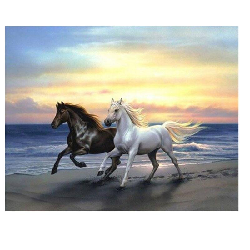 Craft 5D diamond painting resin round diamond painting whole picture drill diamond Diamond needlework embroidery horses
