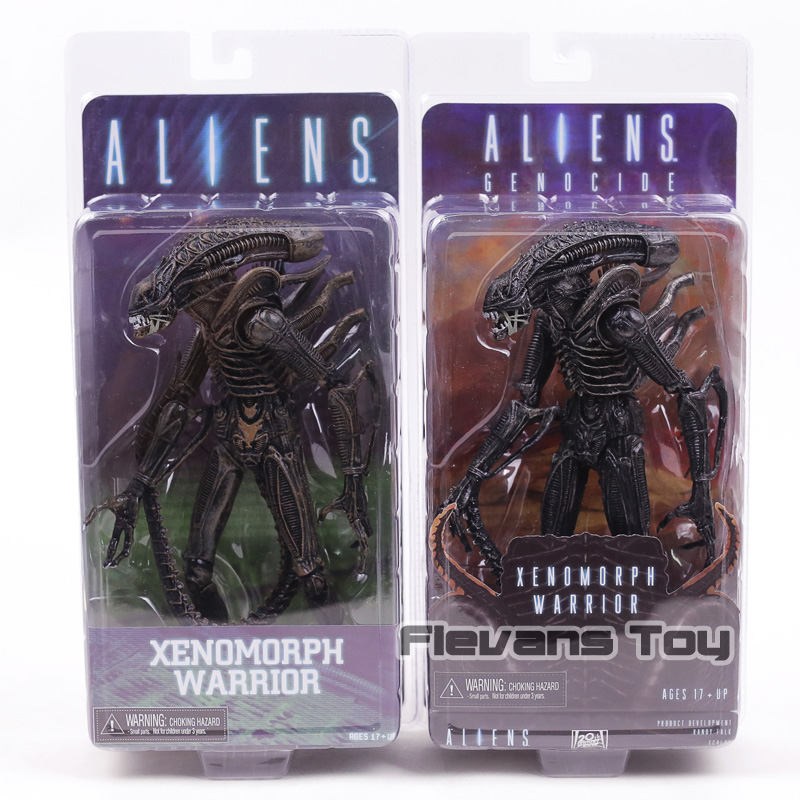 NECA Aliens Genocide Series 5 Xenomorph Warrior Black PVC Action Figure Collectible Model Toy цена