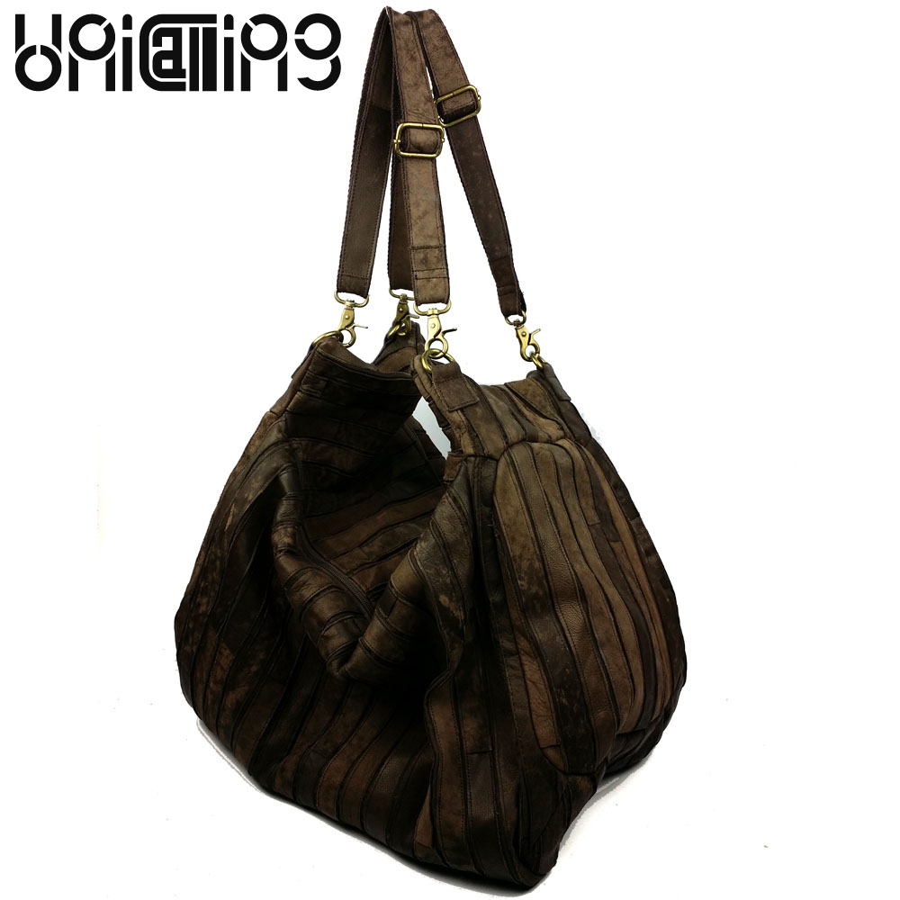 Fashion brand Retro Genuine Leather women bag Cowhide splicing shoulder bags All-match mini big women messenger bags new brand genuine leather women bag fashion retro stitching serpentine quality women shoulder messenger cowhide tassel small bag