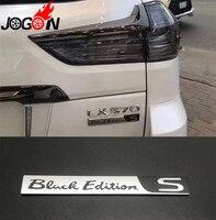 Car Rear Trunk Special Black Edition S Emblem Badge Sticker For Lexus LX570 2015 2016 2017 2018 2019