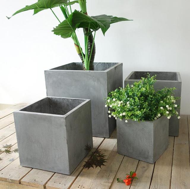 grand pot de fleur silicone moules vase en b ton moules de ciment carr s pot de fleur moules. Black Bedroom Furniture Sets. Home Design Ideas