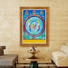 Tibetano Thangka pintura decorativa cartazes fotos quarto hanging pinturas da lona impressão a jato de tinta