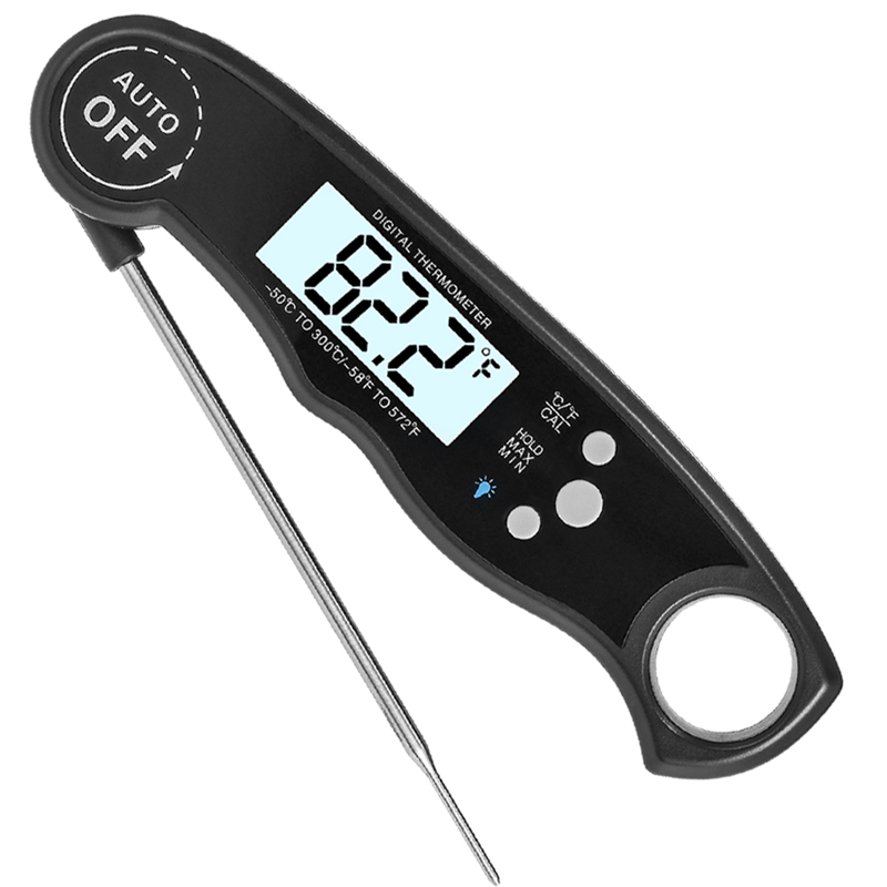 EAAGD Waterproof and Instant Read Food Thermometer with Calibration and Backlight Functions including Long Folding Probe 19