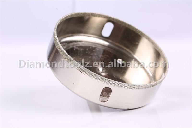 Talentool 102MM Utensili a mano con rivestimento diamantato Punta per trapano per vetro diamantata Sega a tazza diamantata per vetro, ceramica, piastrelle