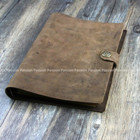NEW Vintage Diaries Journals Notebook Genuine Leather Brown D20141106