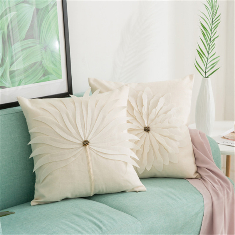 Cushion cover applique embroidery housse de coussin - Cojines de salon ...