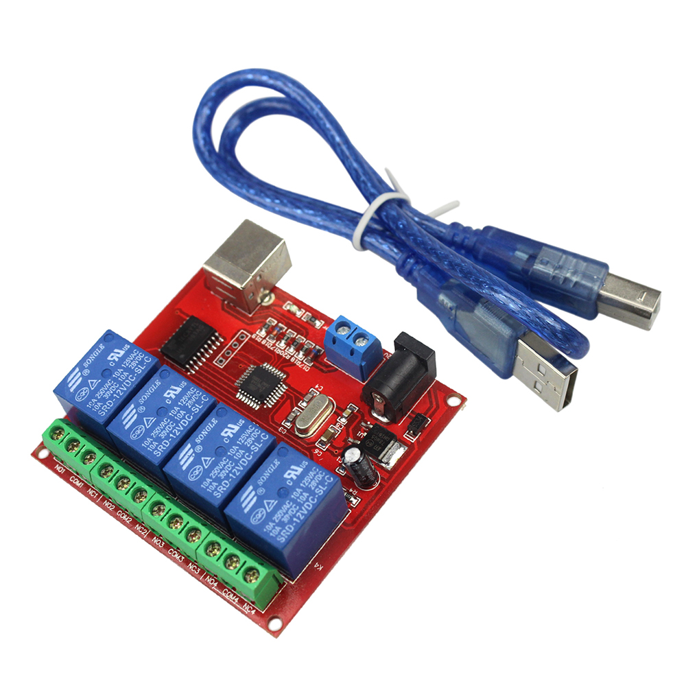 The New 4 Way 12v Computer Usb Control Switch Free Relay Module Pc Function Contact Today At 1 888 590 9296new Channel Drive Intelligent Controller