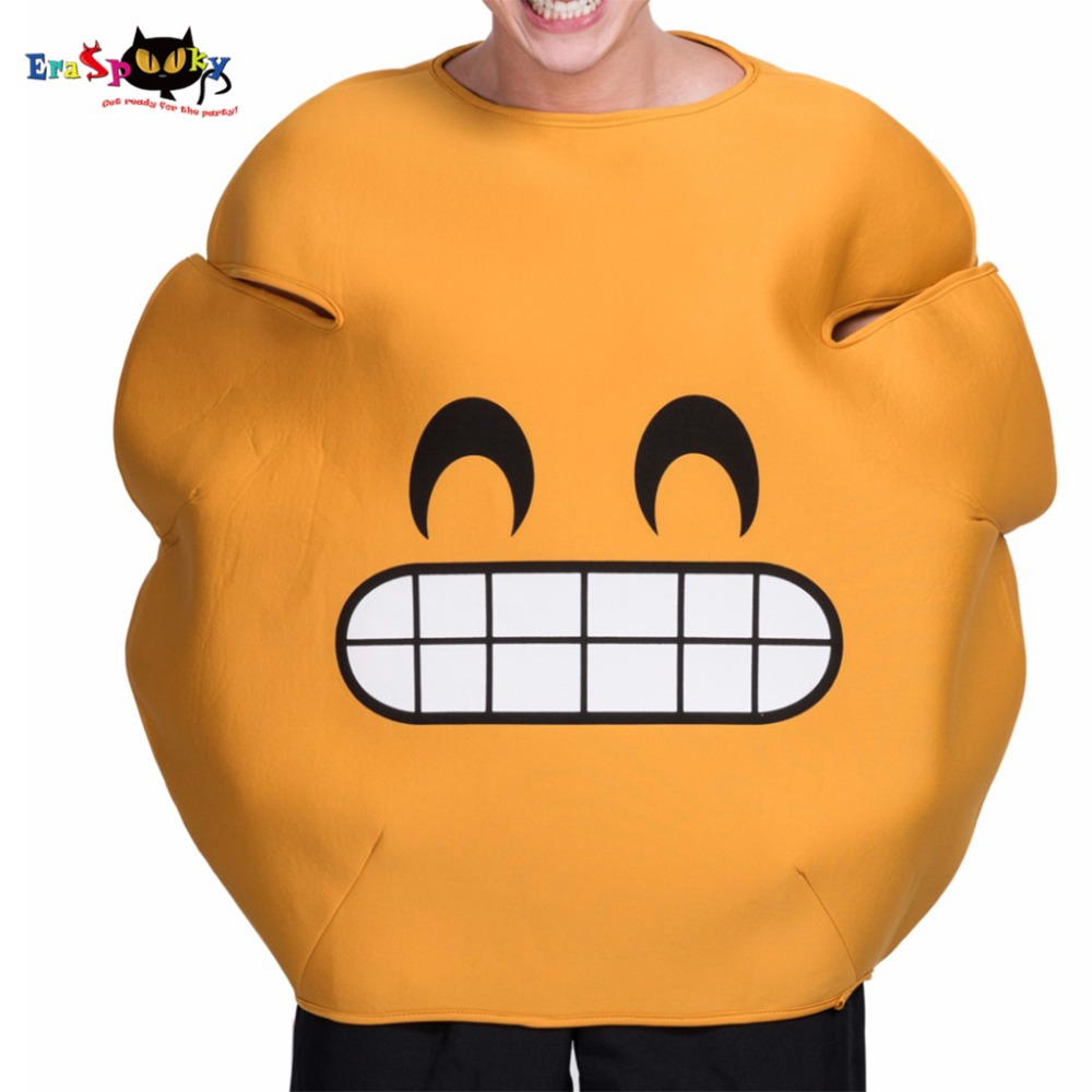 Grin Smiley Emoji Anime Costume Yellow Tongued Out Emoji Adult Costume Halloween Costumes Men Game Of Thrones Cosplay 2017