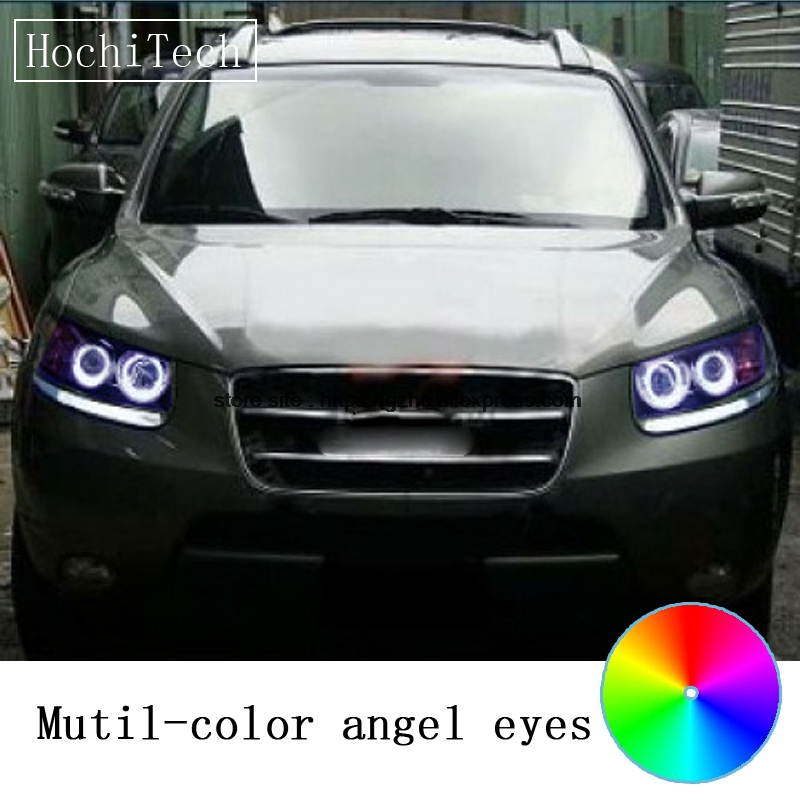 HochiTech for Hyundai santafe santa fe 07-12 car styling RGB LED Demon Angel Eyes Kit Halo Ring Day Light DRL remote control women fashion bow pointed toe slip on girls flats ladies casual breathable ballerinas shallow flats women flat students shoes