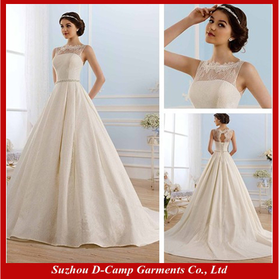 Free Shipping Wd 1414 Keyhole Back Lace Over Satin Ball Gown