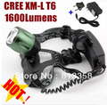 CREE XM-L XML T6 LED 1600 Lumens ZOOM Rechargeable Headlamp LED headlight CREE For 2x18650 Battery(not include) + Charger