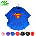 2pc Kids Rain Coat Superman Batman Spiderman Rainwear Boys Girls Waterproof Kid Raincoat Clothes Superhero for Children Rainsuit