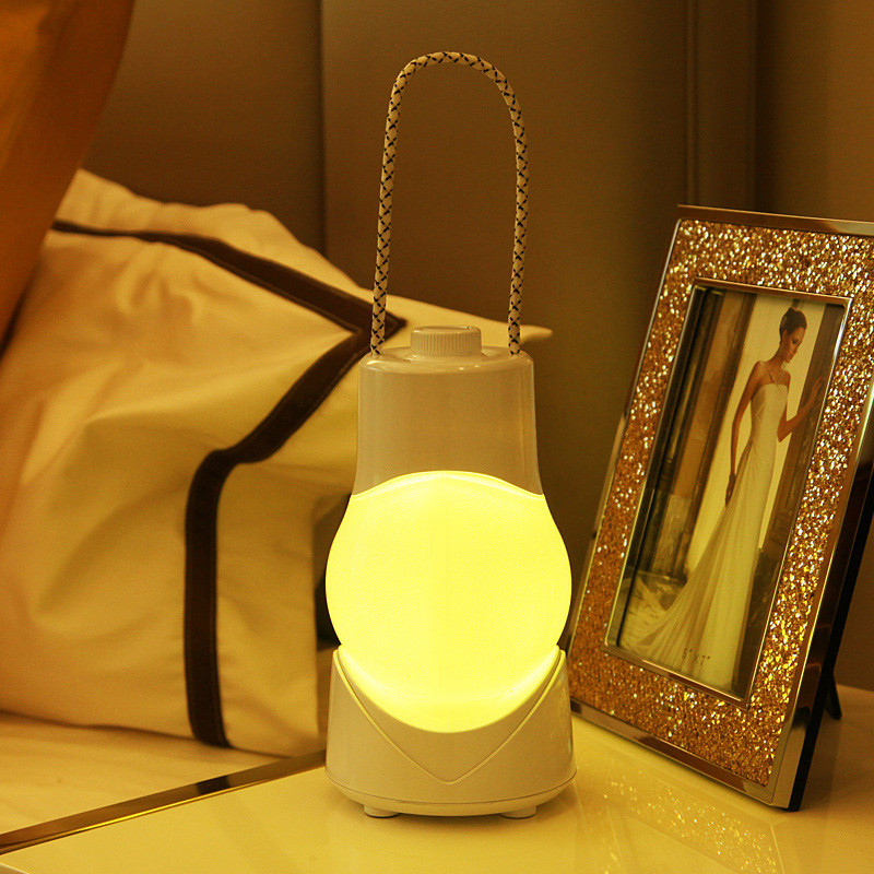 Kind-Hearted Portable Rechargeable Music Bed Light Smart Nightlight Timing Lamp Us Plug Usb Charging Warm White /white Light Lights & Lighting
