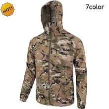 ESDY Marca Verão Hoodies Camuflagem Dos Homens Ultra-Fina de Proteção Solar jaqueta Miltary Tático Secagem rápida Dos Homens Da Selva Camo casaco casaco com capuz
