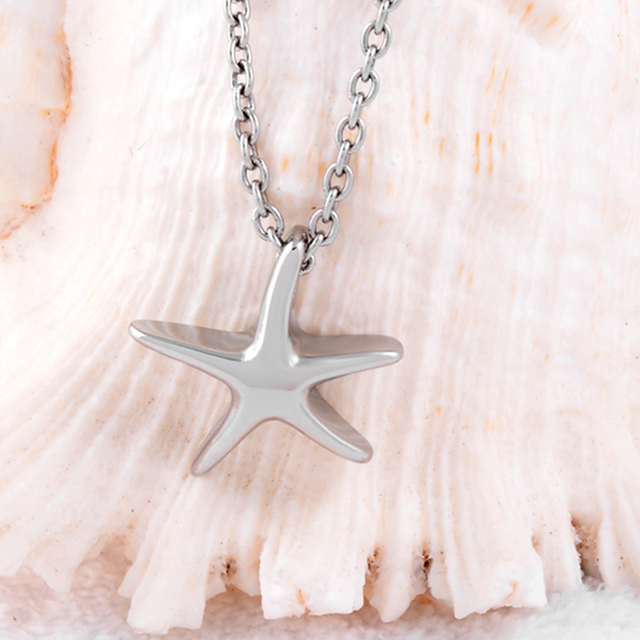 10 pcs Starfish Urn Necklace