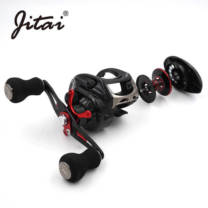 JITAI 14 + 1BB Baitcasting moulinet de pêche 6.4: 1 rapport de vitesse 8Kg puissance de freinage haute qualité Ultra léger chine moulinets de pêche roues