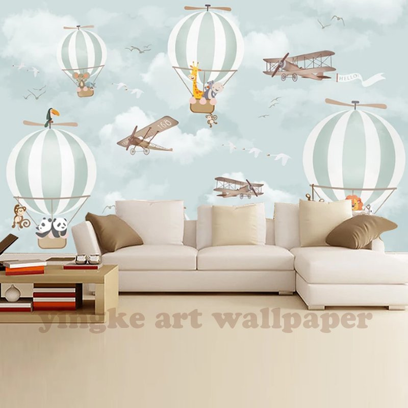 Custom 3D Mural Wallpaper Hot Air Balloon TV Background Wall Pictures For Kids Room Bedroom Living Room WallpaperCustom 3D Mural Wallpaper Hot Air Balloon TV Background Wall Pictures For Kids Room Bedroom Living Room Wallpaper