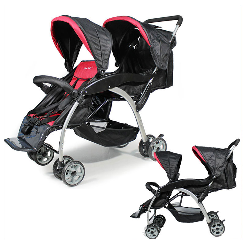 Newborn Lightweight Twins Baby Stroller Double Pram Folding Shock Absorber Baby Carriage Double 2 In 1 Stroller for Twins Baby мудрые сказки медведь