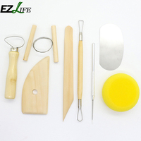 8pcs/set Pottery Tools Wood Carving Pottery Clay Ceramic Tools Practical Wood Sculpture Tools Knife Diy Art Clay LQW0673