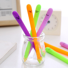 4PCS/lot Creative cute eggplant gel pen  Kawaii neutral Office School Stationery Supplies 0.38 mm