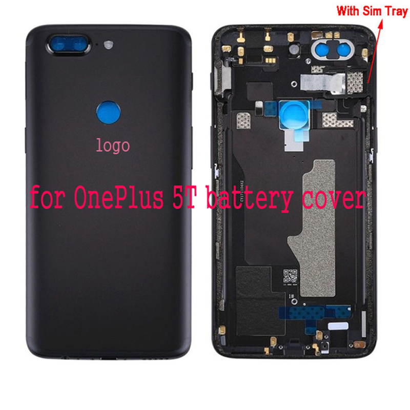 Yeuzoe Original Replacement Battery Cover for Oneplus 5T Housing Back Door  Parts with Lens Glass+Sim Card Slot+Keys With logoYeuzoe Original Replacement Battery Cover for Oneplus 5T Housing Back Door  Parts with Lens Glass+Sim Card Slot+Keys With logo