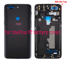 Yeuzoe Original Replacement Battery Cover for Oneplus 5T Housing Back Door  Parts with Lens Glass+Sim Card Slot+Keys With logo