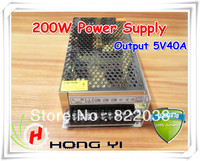 Free shipping 200W Power Supply for LED Display (Output 5V40A), Input 220V LED module display