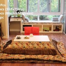 4 шт./компл.) Японский Стиль набор Kotatsu складной стол обогреватель футон Гостиная мебель набор Kotatsu теплее низкий центр стол 105 см