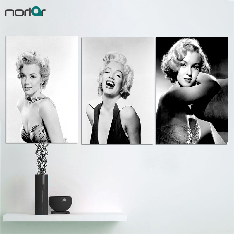 Figure Canvas Painting Marilyn Monroe Portrait Canvas Art Home Decor Wall Art Wall Pictures American Actress Painting No Frame image