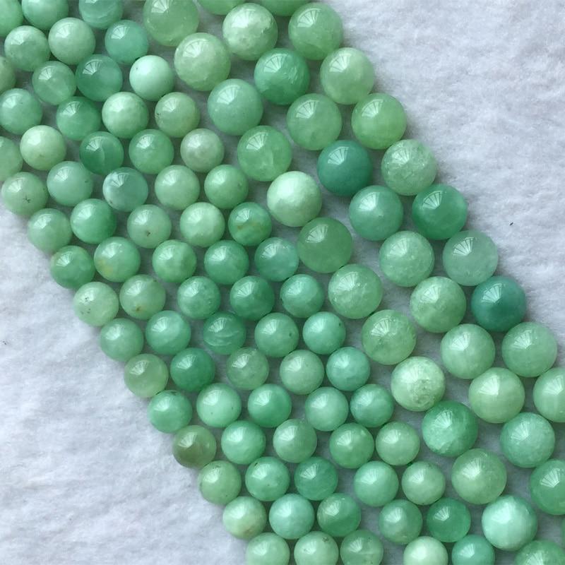 "AAA+++6mm Natural Pink Gemstone Round Jade Loose Beads 15/"" DIY"