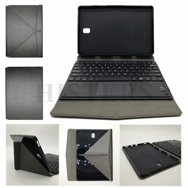 newest e9841 0f448 US $28.73 10% OFF|Pen+Film For Samsung Galaxy Tab S4 10.5 Touchpad  Bluetooth Keyboard Transformer Case For SM T835 SM T830 Soft TPU Back  Cover-in ...