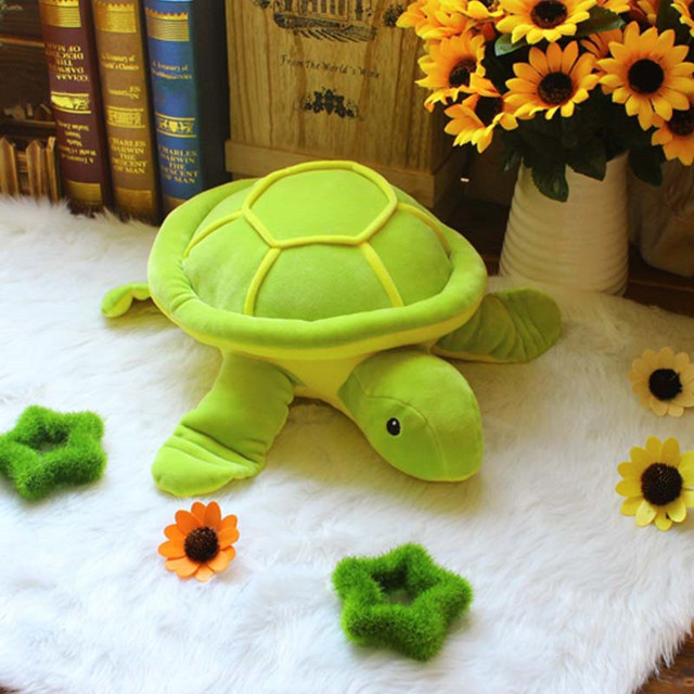 Plush Soft Tortoise Dolls for Kids Gifts Stuffed Animal Turtles Toys for Baby Cushion Green Pillows for Kids 36*23cm