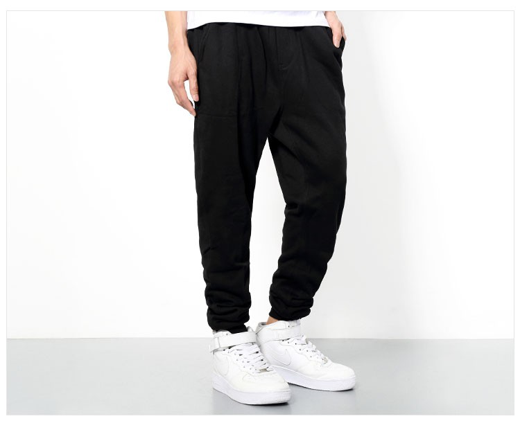 Men Joggers Pants Hip Hop Fashion Sport Skinny Sweatpants Casual Military Jogging Trousers Black beam foot trousers M-4XL (2)