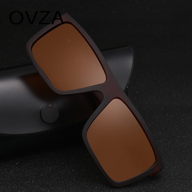 OVZA Polarized Flat Top Designer Sunglasses 6