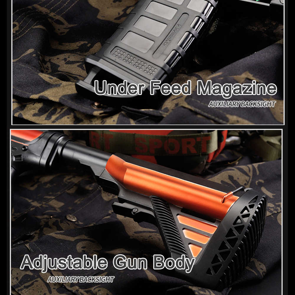 Çocuk açık elektrik çarpması dalga su oyuncak silah M416 keskin nişancı tüfeği makineli tabanca su tabancası ile çocuk doğum günü hediyesi