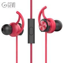 Lo nuevo Original GEVO GV2 auricular Estéreo de 3.5mm En la Oreja los Auriculares Con Micrófono Para Xiaomi Iphone Samsung PC