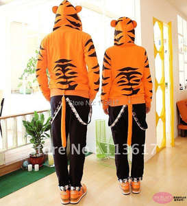 HOLRAN X Dragon Tiger Costume hoodie With Tail Punk Jacket & top 10 largest tiger sweatshirt tail list