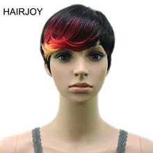 HAIRJOY синтетические волосы Мути цвет челка высокая температура волокно женщина короткий парик 18 цветов