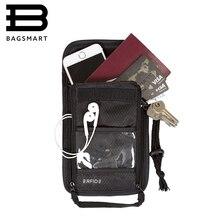 BAGSMART Reise Zubehör 2016 Neue RFID Pass Brieftasche Pass Bank Kartenhalter Tasche Passdecke Lässig Reise Münzhalter